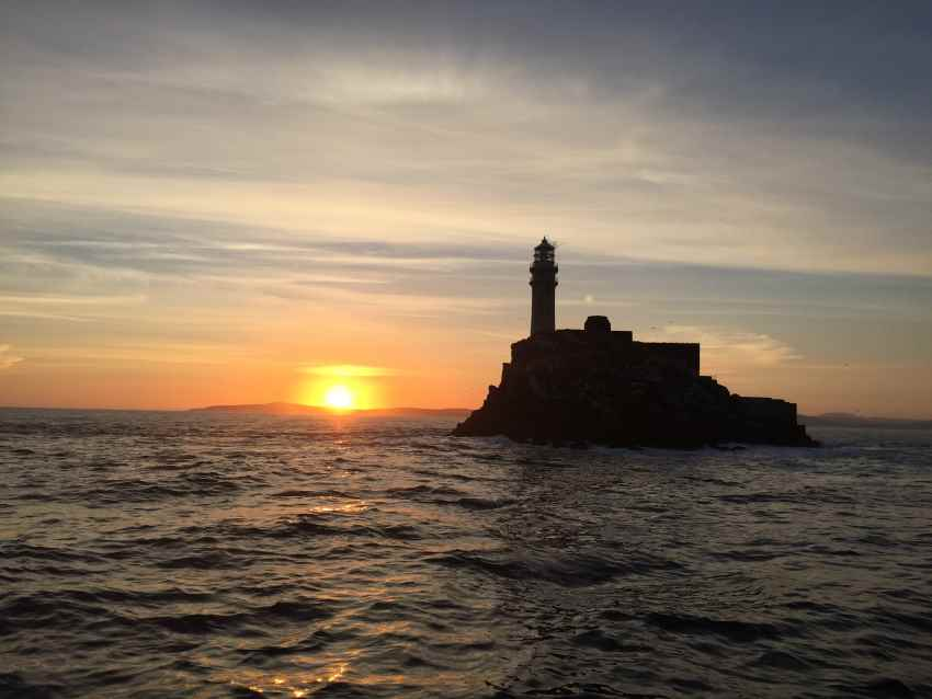 Fastnet Rock Lighthouse boat tour County Cork Wild Atlantic Way Sunset